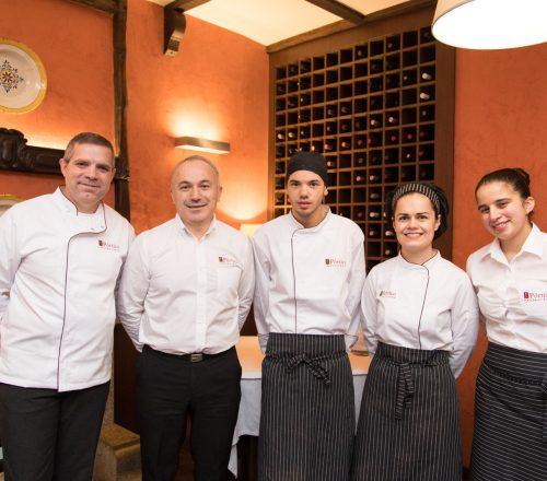 A equipa do Restaurante O Pórtico