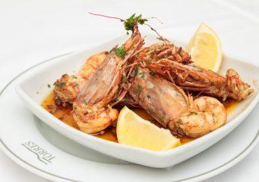 Restaurante Torres Famalicão, camarão tigre grelhado